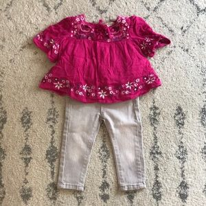 Adorable toddler tunic and jeans
